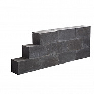Lineablock 15x15x30 cm Black