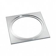 Plate 75 Accessory Vierkante Plaat Rvs 75X75mm tbv Diverse Geïntegreerde Armaturen.