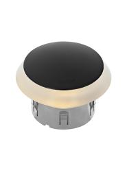 Puck Dark 12V/1,5W LED ø60mm Warm White, diffuse Ring 86mm