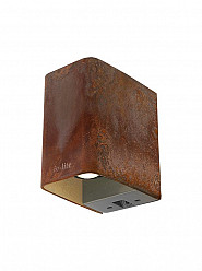 Ace Down Corten Wall down light 12V/3W LED Alu. Warm White
