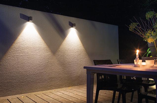 Ace Down Wall light 12V/3W LED Dark Grey Warm White